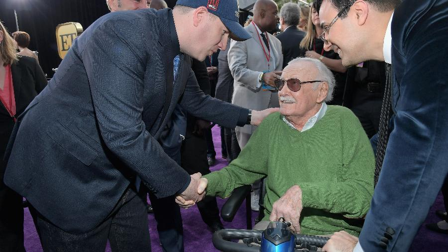 "Stan Lee na estreia de ""Vingadores: Guerra Infinita"", em Los Angeles - Charley Gallay/Getty Images"