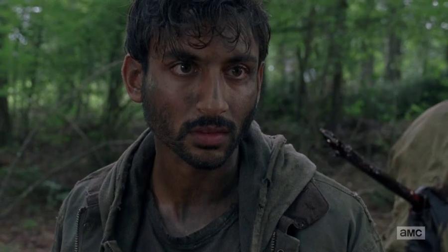 O personagem Siddiq que surgiu na 8ª temporada de Walking Dead - Divulgação