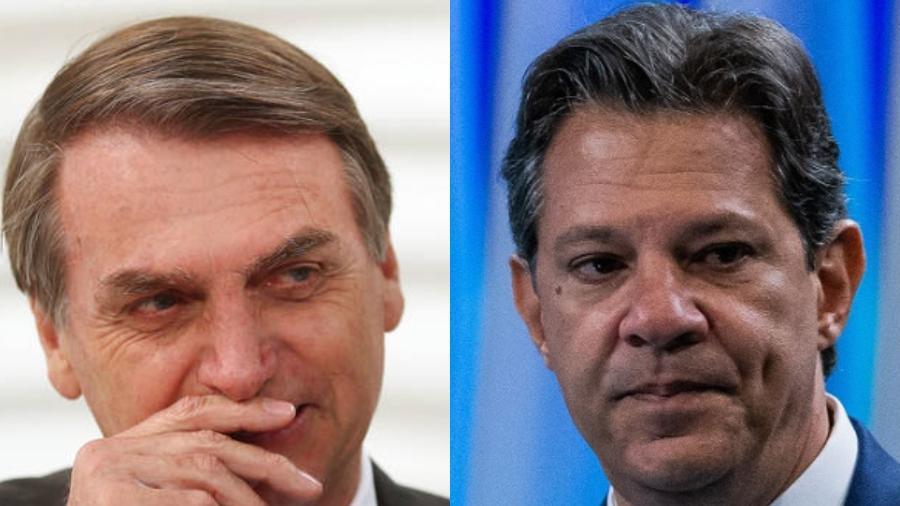 Debate Bolsonaro - Haddad cancelado na Globo - Montagem UOL