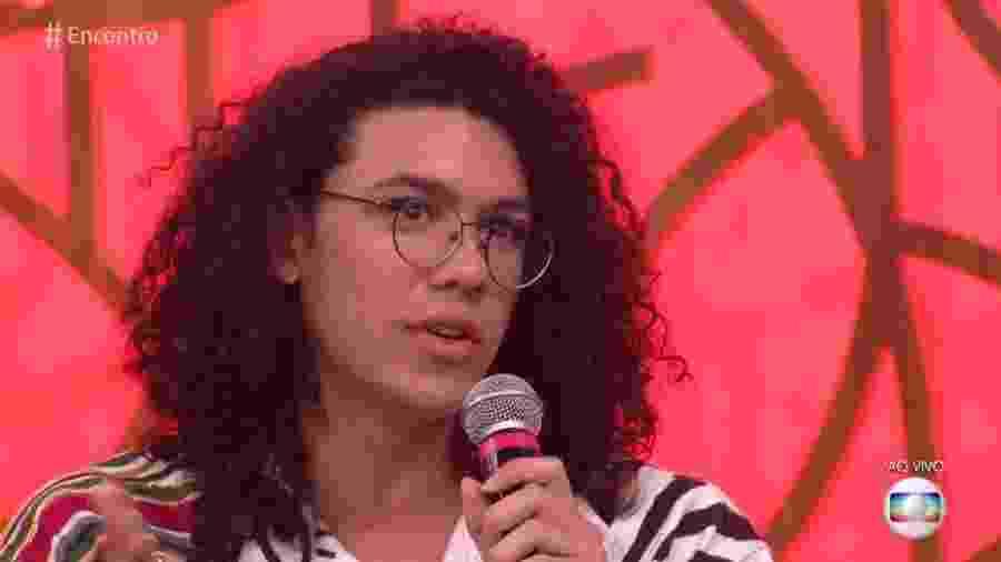 """Pedro Vinicius no """"Encontro"""" - Reprodução/Globo"""