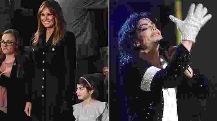 Melania Trump durante o discurso do Estado da União e Michael Jackson - AFP - AFP