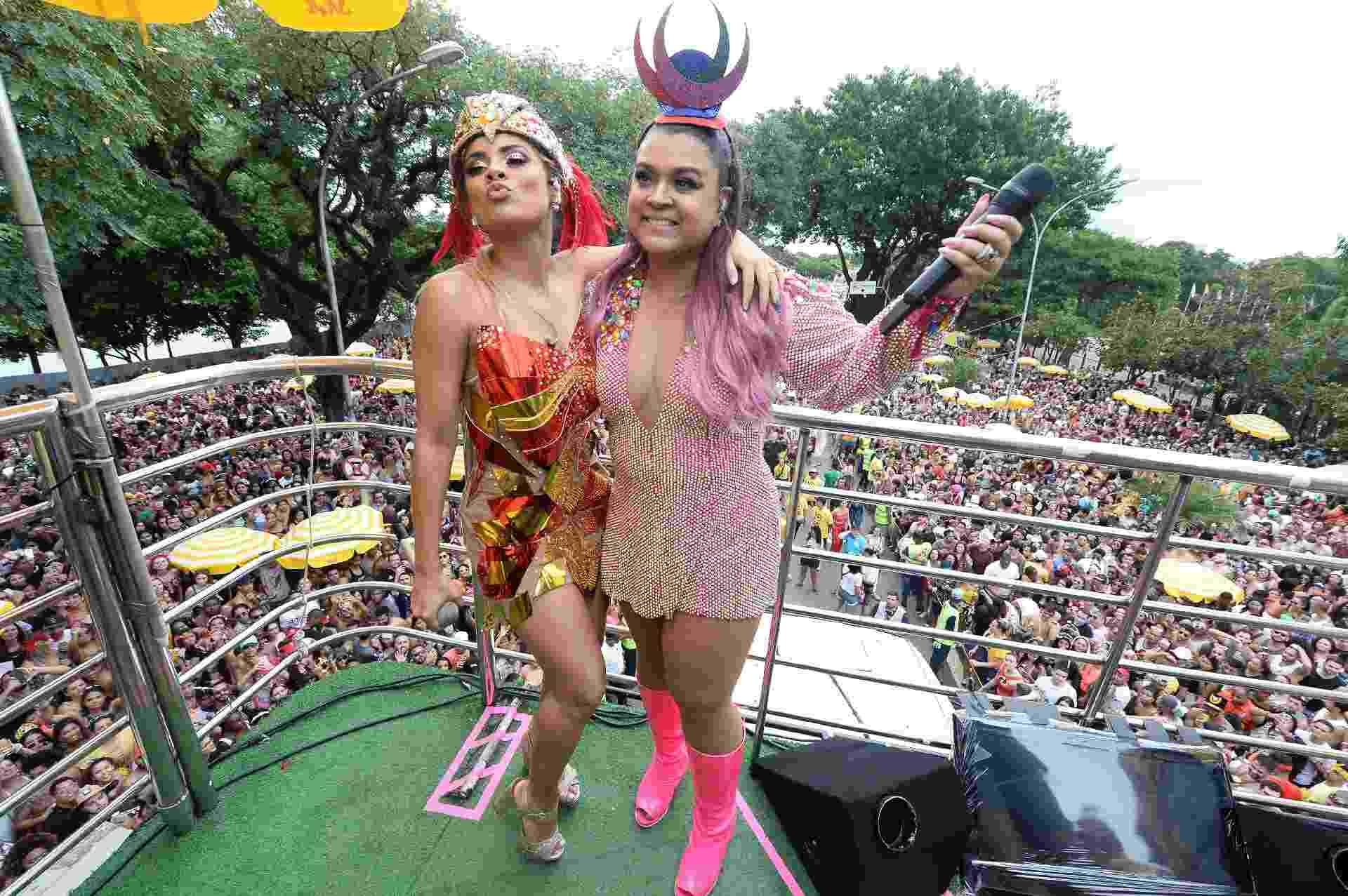 Lexa participa do Bloco da Preta, em São Paulo, depois de levar golpe e não conseguir sair com o seu próprio trio, o Sapequinha - Francisco Cepeda/AgNews