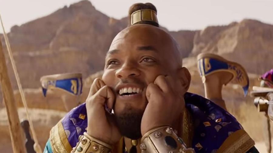"""Will Smith como Gênio da lâmpada em """"Aladdin"""" - Divulgação"""