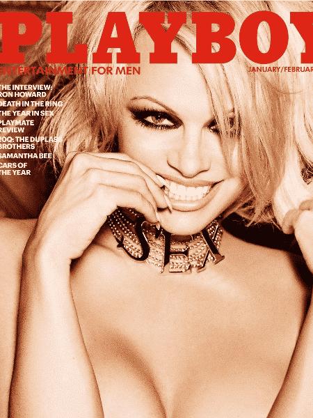 Pamela Anderson em capa da revista Playboy - Reprodução - Reprodução