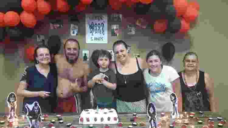 Kiss foi o tema da festa de aniversário de Heitor - Aline Labaki/Acervo pessoal