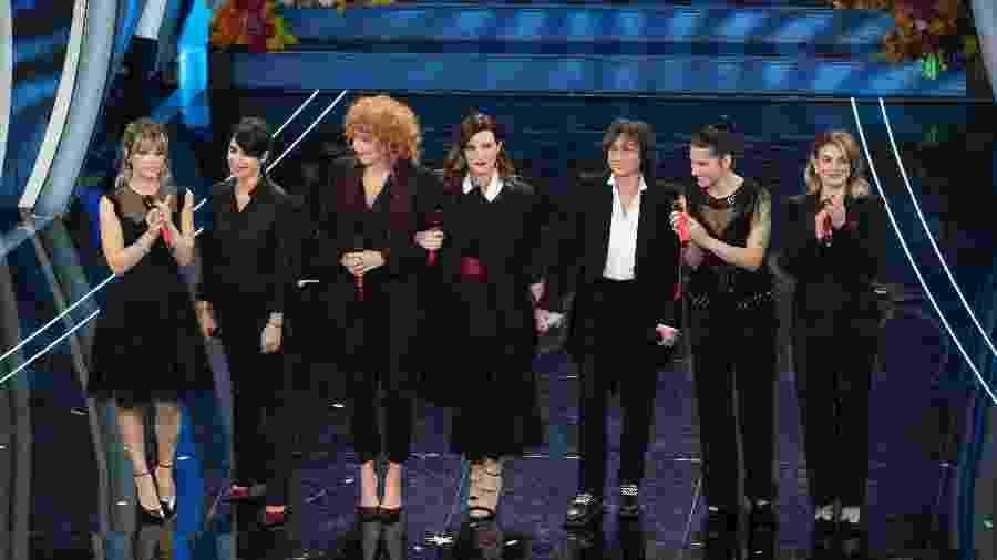As cantoras Alessandra Amoroso, Giorgia, Fiorella Mannoia, Laura Pausini, Gianna Nannini, Elisa e Emma estão envolvidas - Getty Images
