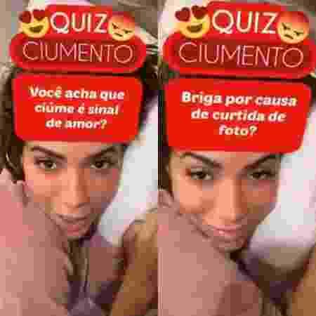Anitta participa de jogo de perguntas sobre ciúmes - Reprodução / Instagram