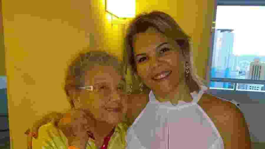 Palmirinha com sua geriatra, doutora Patricia Alarcon - Divulgação