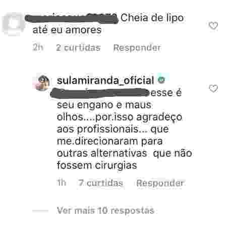 sula m - Reprodução/Instagram - Reprodução/Instagram