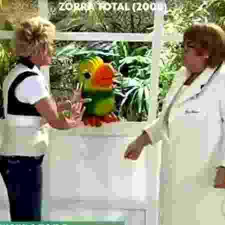 """Louro José e Ana Maria Braga gravaram """"Zorra Total"""" em 2008 com Fabiana Karla - Reprodução/Globo - Reprodução/Globo"""