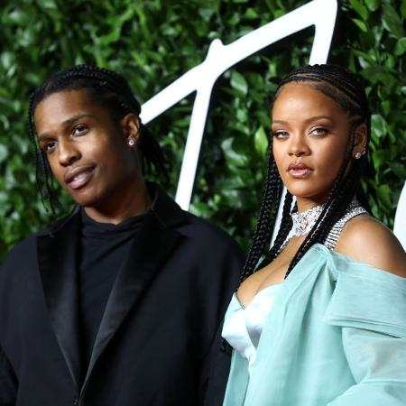 A$AP Rocky e Rihanna no Fashion Awards 2019 - Getty Images