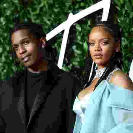 A$AP Rocky e Rihanna no Fashion Awards 2019 - Getty Images