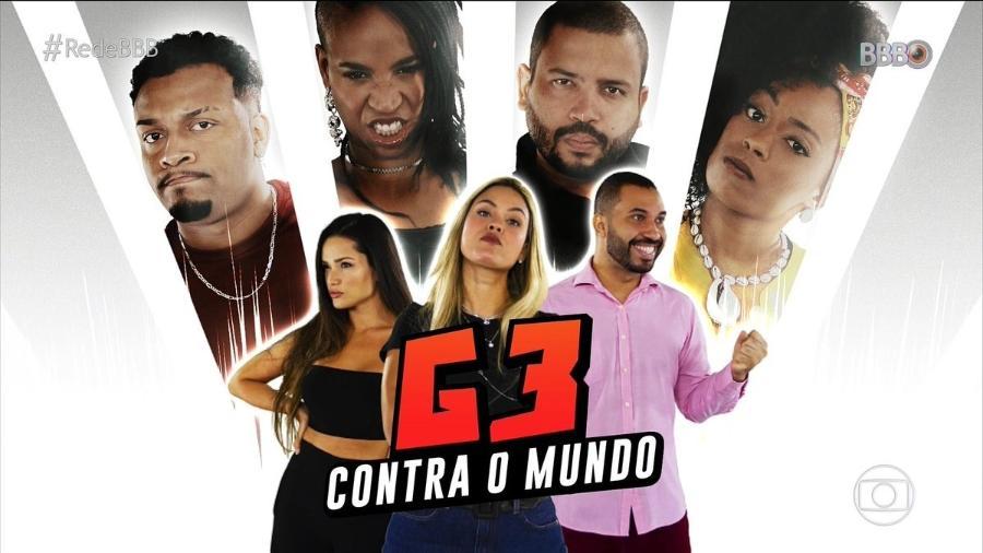 """G3 contra o mundo no """"BBB 21"""": heróis e vilões da temporada se enfrentam - Rede Globo/Reprodução"""
