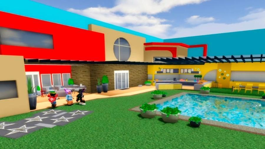 Casa do BBB 20 foi recriada no Roblox. Jogadores atuam como brothers e sisters. - Reprodução/Big Blox Brasil