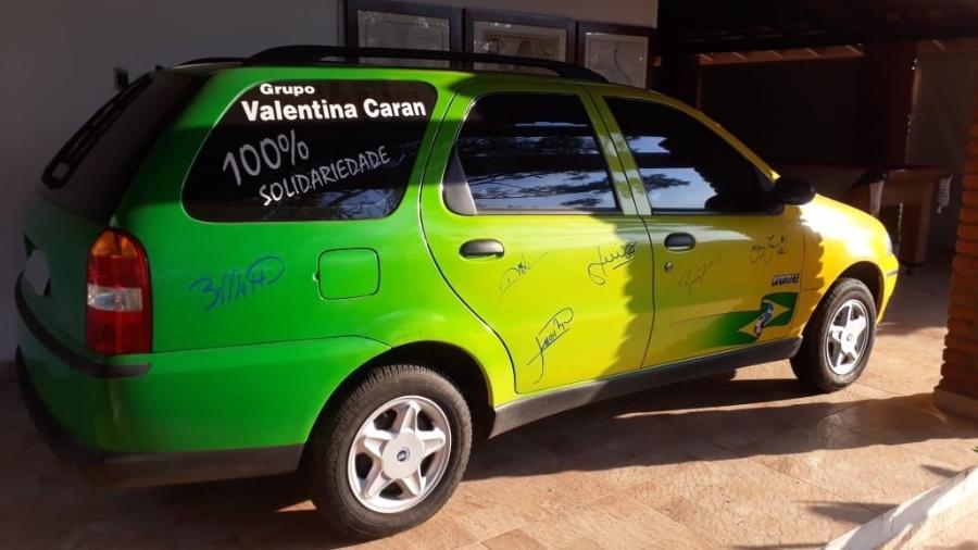 Fiat Palio Weekend do Penta de Valentina Caran - Acervo Pessoal