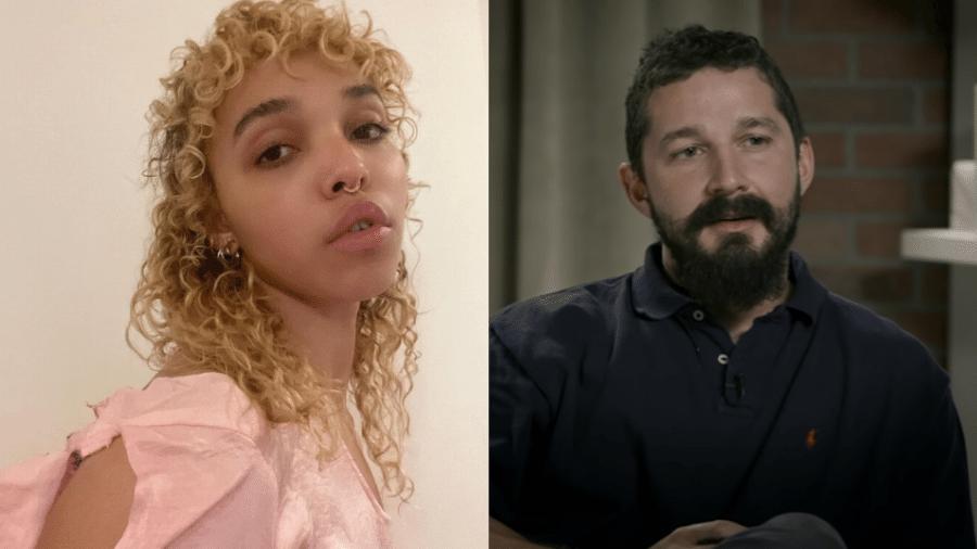 FKA Twigs e Shia Labeouf tentam acordo em ação judicial - Reprodução/Instagram e YouTube