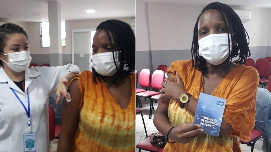 Mary Sheyla é vacinada contra covid-19 - Reprodução/Instagram