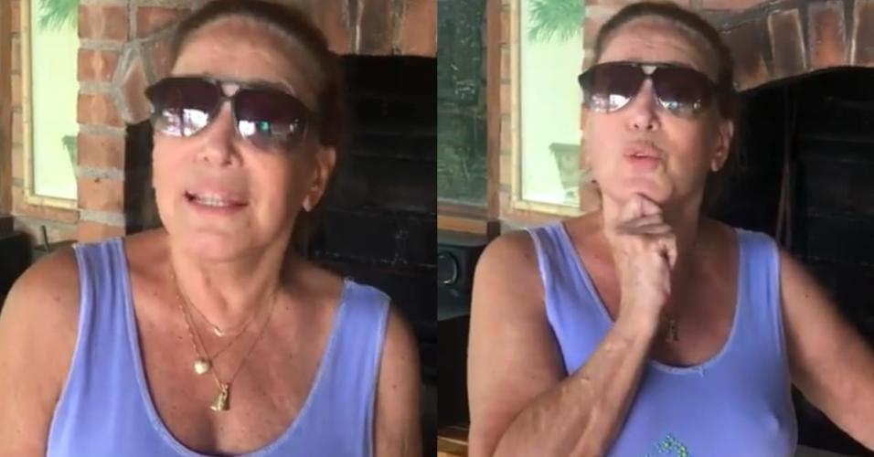 Susana Vieira ganha carnes para churrasco de André Marques e reclamada da quantidade de fraldinha recebida