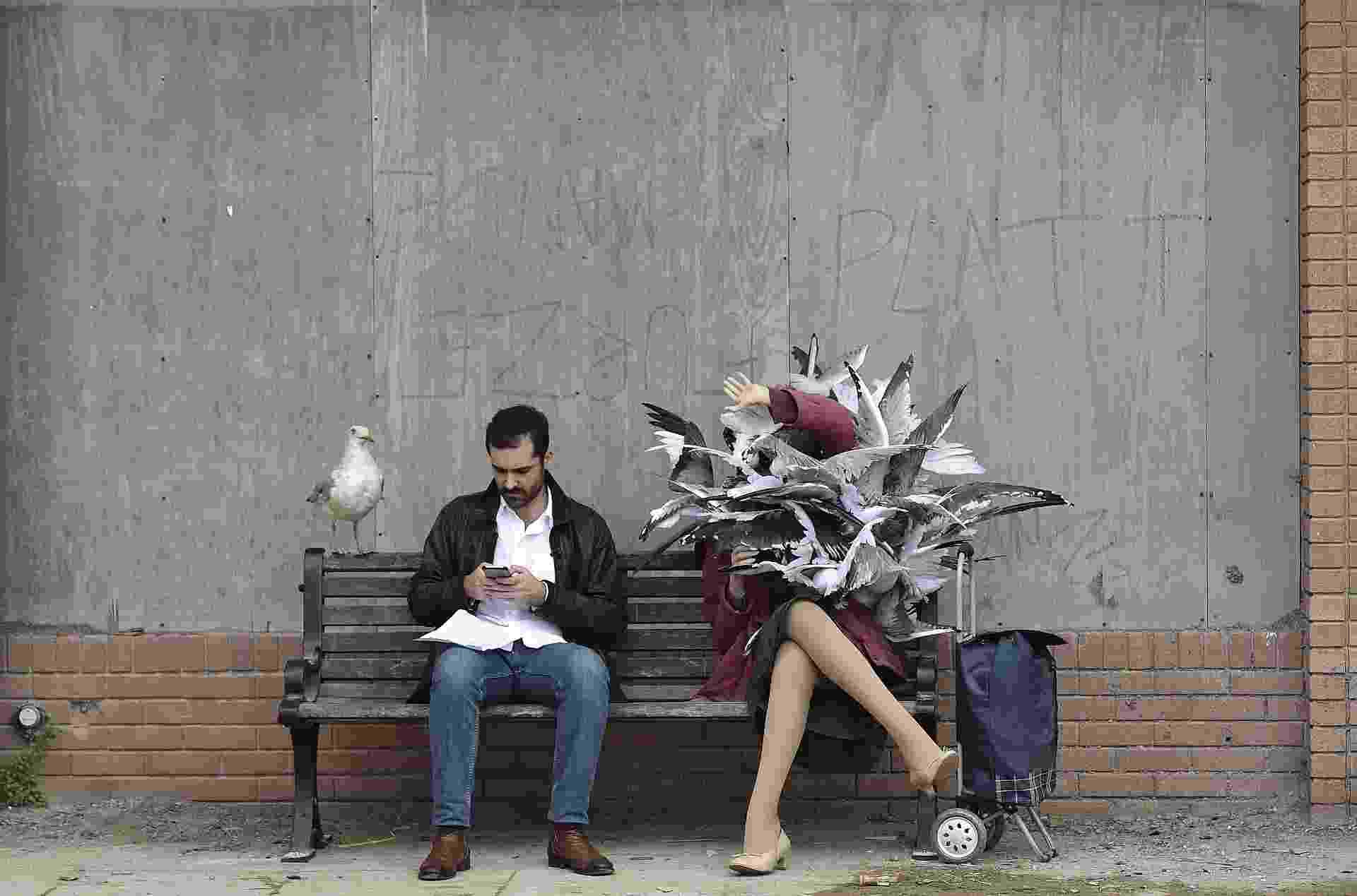"""20.ago.2015 - O artista urbano britânico Banksy anunciou nesta quinta-feira (20) a abertura da """"Dismaland"""", um """"parque temático familiar para anarquistas principiantes"""" em Somerset, região litorânea ao oeste do Reino Unido - Toby Melville/Reuters"""