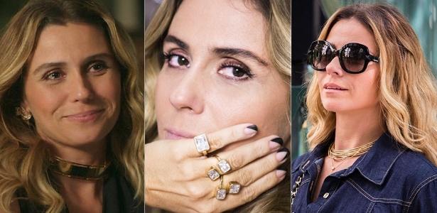 """Gargantilha, anéis e óculos de Atena, a vilã de """"A Regra do Jogo"""", fizeram sucesso em setembro - Divulgação"""