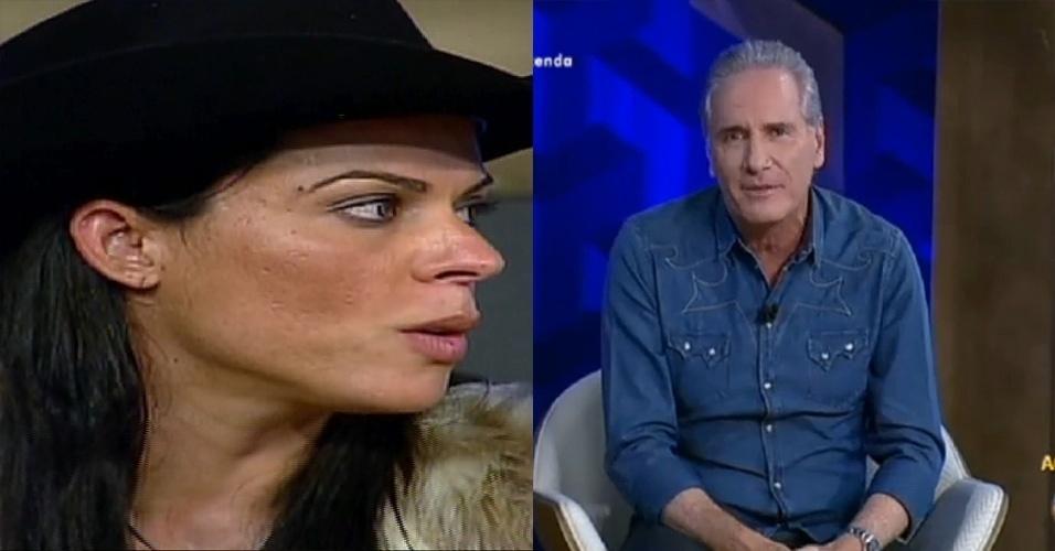 Roberto Justus repreende Rebeca Gusmão em programa especial de