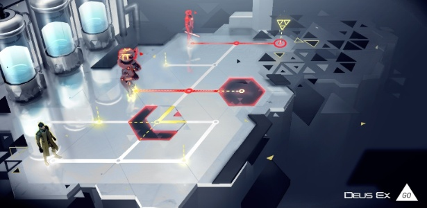 """Com ação similar a de jogos de tabuleiro, """"Deus Ex GO"""" leva elementos da série principal para os celulares e tablets - Divulgação"""
