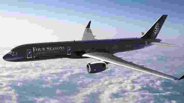 A rede Four Seasons também tem um avião para viagens de luxo exclusivas - Divulgação/Four Seasons