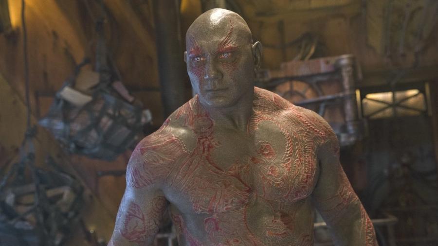 """Dave Bautista como Drax, em """"Guardiões da Galáxia Vol. 2"""" - Divulgação"""