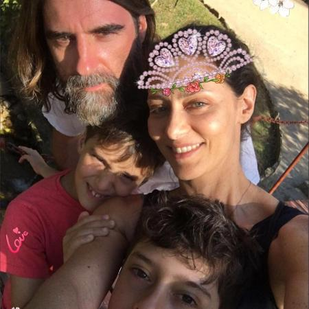 Maria Fernanda Cândido com o marido e os filhos - Reprodução/Instagram