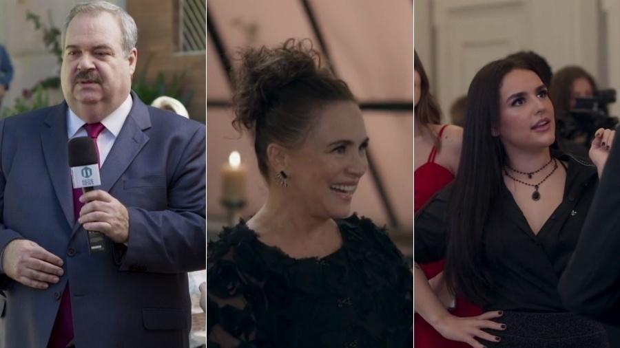 """O apresentador Gilberto Barros, a atriz Regina Duarte e Kéfera Buchmann foram algumas das personalidades que já passaram por """"Pega Pega"""" - Reprodução/TV Globo"""