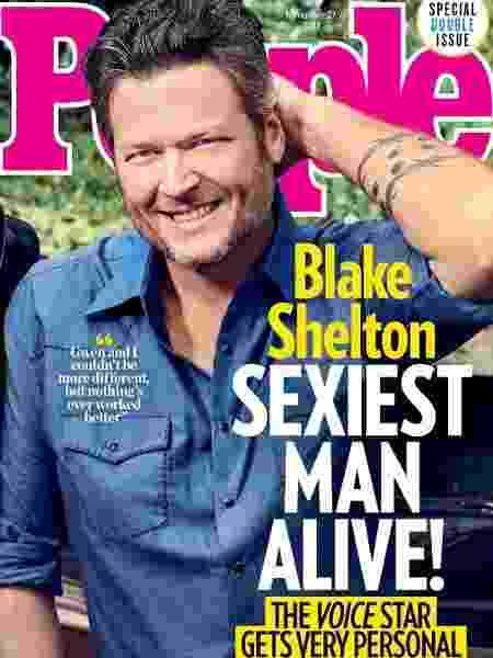 """Blake Shelton na capa da revista """"People"""" - Reprodução/Instagram"""