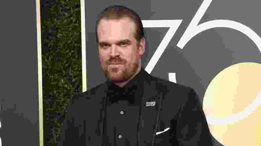 David Harbour no Globo de Ouro 2018 - Getty Images