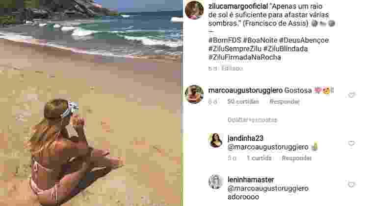 Zilu ganha elogio do namorado - Reprodução/Instagram - Reprodução/Instagram
