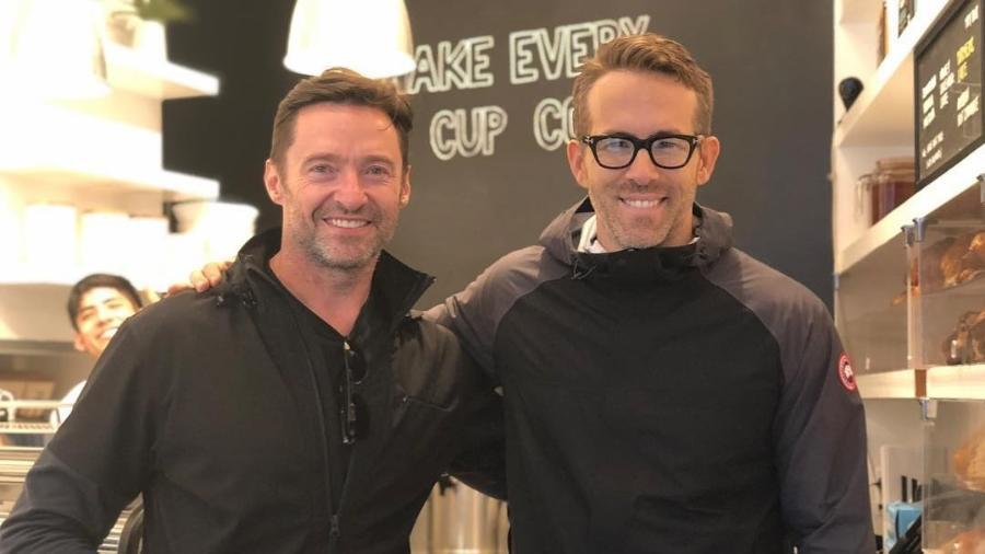 Ryan Reynolds visita a cafeteria de Hugh Jackman em Nova York - Reprodução