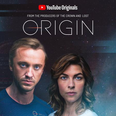 """Tom Felton e Natalia Tena em pôster de """"Origin"""", série do YouTube - Divulgação"""