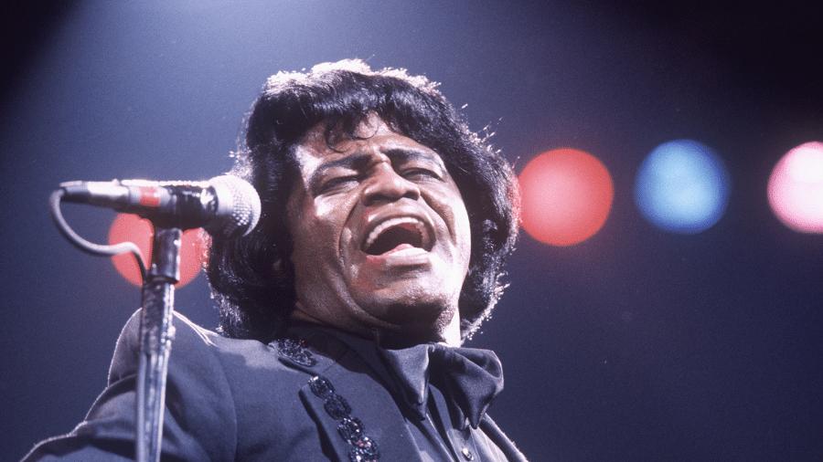 O cantor James Brown - Reprodução