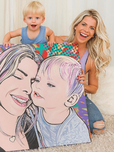 Karina Bacchi e o filho, Enrico, ganham quadro - Reprodução/Instagram
