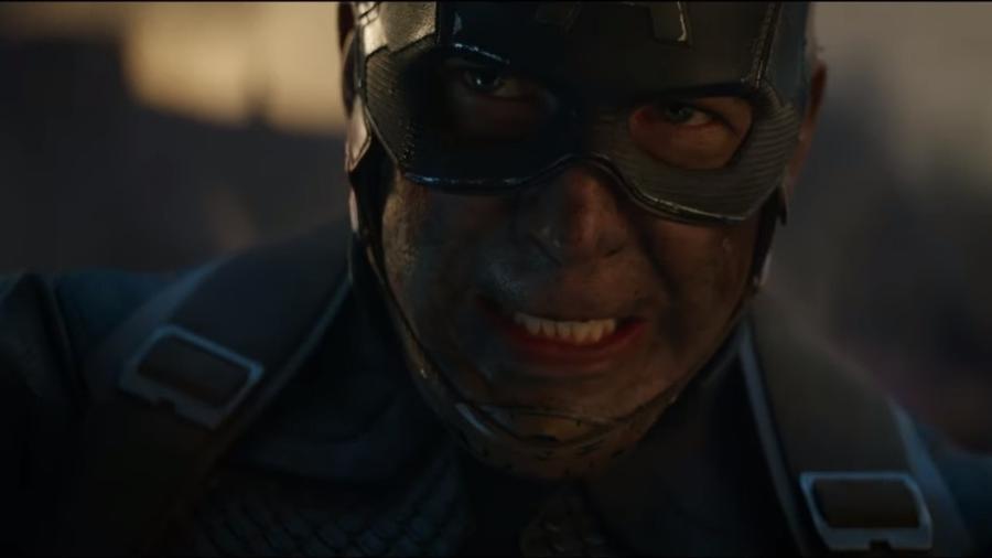 """Capitão América em cena do trailer de """"Vingadores: Ultimato"""" - Reprodução/YouTube"""