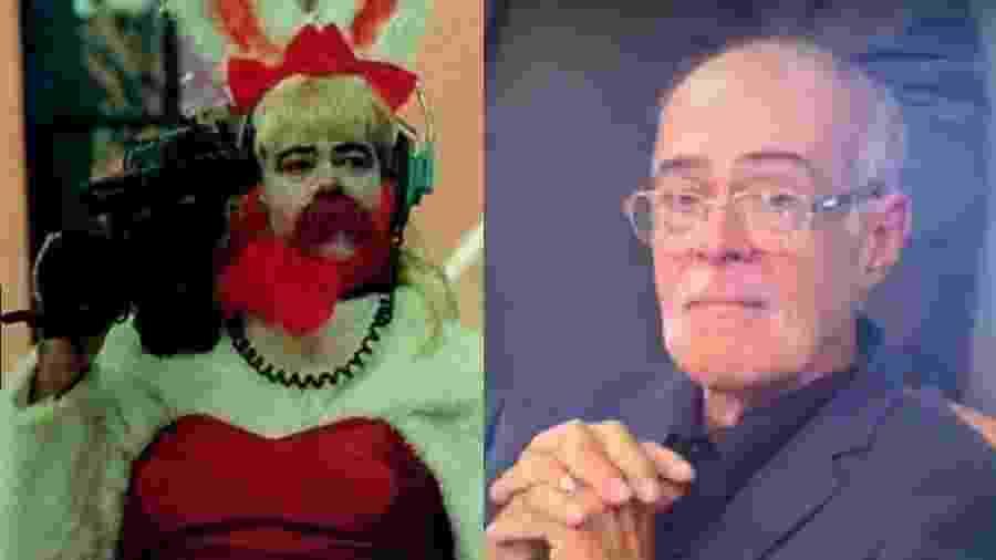 O antes e depois do cinegrafista Renatão - Reprodução