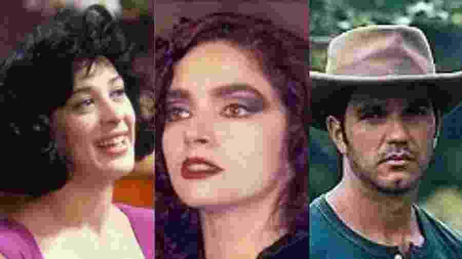 Claudia Raia, Claudia Ohana e Humberto Martins faziam sucesso nos anos 1990 - Montagem/UOL