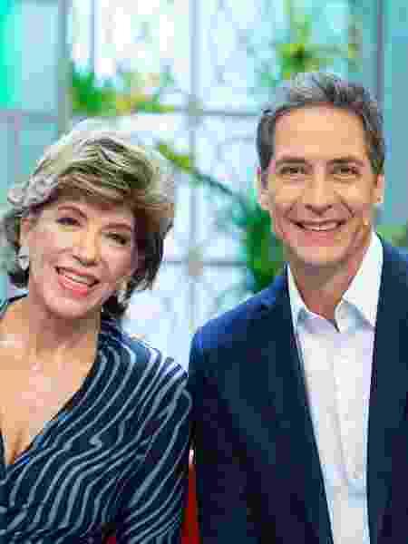 "Silvia Poppovic e Luís Ernesto Lacombe, apresentadores do ""Aqui na Band"" - Band"