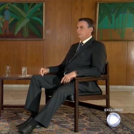 O presidente Jair Bolsonaro na Record: conversa entre amigos - Reprodução / TV
