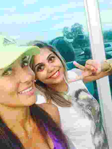 Denise Veberling e Amanda Oliveira eram amigas próximas, mas amizade terminou por causa de dívida não paga - Arquivo pessoal