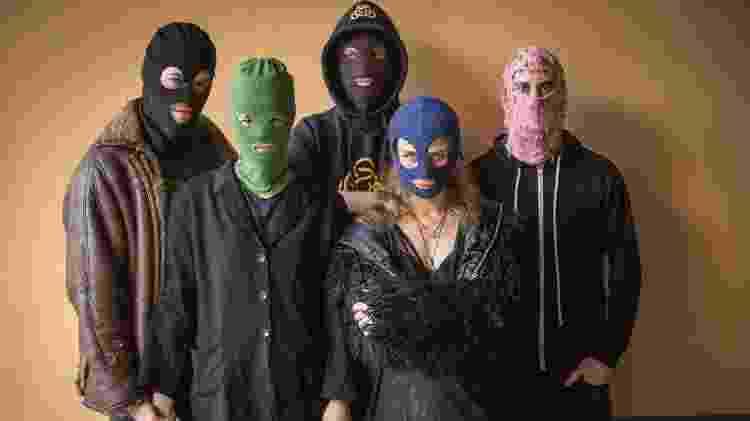 O grupo ativista (e também musical) Pussy Riot - Divulgação