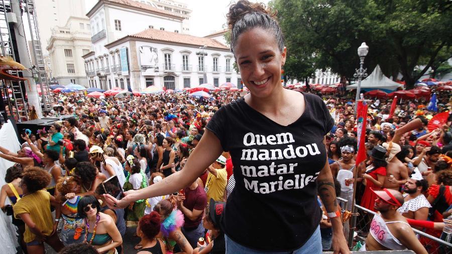 Mônica Benício, viúva de Marielle Franco - José Lucena/Futura Press/Estadão Conteúdo