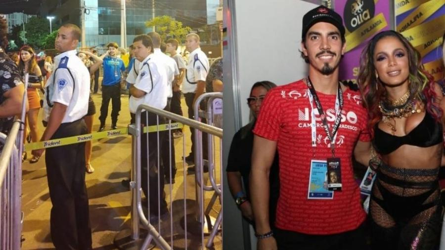 Poncio barrado e Gabriel falando de Anitta - Montagem de fotos de Coluna do Leo Dias e Divulgação