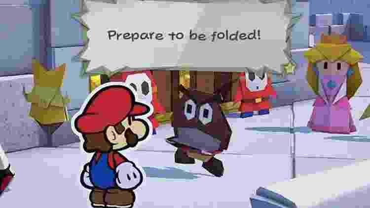 Mario Folded - Divulgação/Nintendo - Divulgação/Nintendo