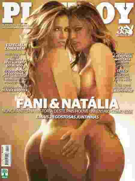 """Fani Pacheco e Natália Casassola na """"Playboy"""" de novembro de 2010 - Reprodução/Instagram"""