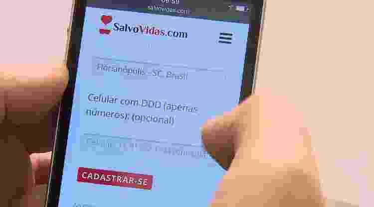 Salva Vidas é plataforma para conectar doadores de sangue e hemocentros - Divulgação - Divulgação