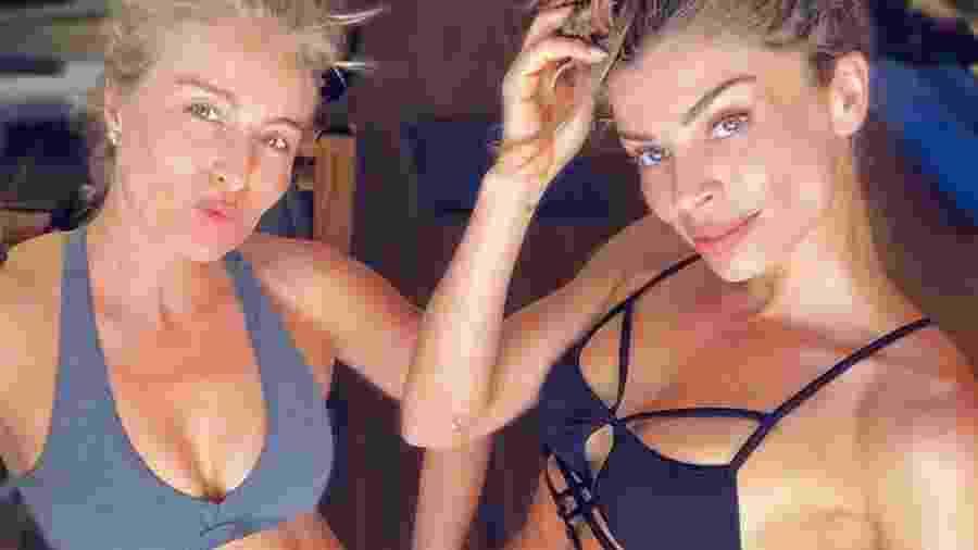 Grazi Massafera e Angélica em treino - Reprodução/Instagram